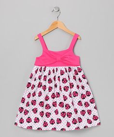 Take a look at this Pink Ladybug Bow Dress - Toddler & Girls by Longstreet on #zulily today!