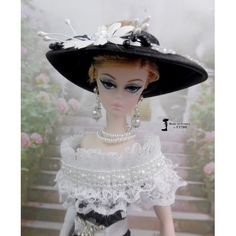 "Robe Barbie + chien en laisse "" Alexandra "" Vêtement pour poupée Barbie Fashion Royalty Silkstone Poppy Parker , fait main par F3788 