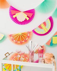 Eye spy our #ohjoyfortarget pink ombré cocktail shaker in @ohhappyday's gorgeous garland DIY today!