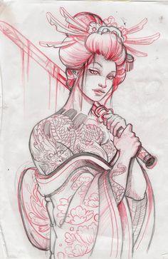 geisha13 sketch by ~mojoncio on deviantART