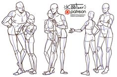 Casual standing pose reference sheet by Kibbitzer on DeviantArt Couple Poses Reference, Drawing Couple Poses, Poses Manga, Poses References, Figure Drawing Reference, Art Poses, Anatomy Drawing, Drawing Base, Drawing Techniques