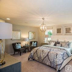 2015 Parade Craze Tour of New Homes Cincinnati - Rayn Homes #paradecraze #ParadeOfHomes #RyanHomes #masterbedroom #bedroom #chandelier #chairs #pillows #lamps #nightstand #design #interiordesign #designer #interiordesigner #decor #interiors #homedecor #homedesign #home #house #cincinnati #paradecrazetourofnewhomescincinnati