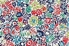 Liberty Clarricoates Blue Red Green Floral Large by PickClickSew, £3.65