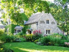Houses Nice Cottage Home Beautiful House Flowers Grass Sunshine Doors Trees Nature Architecture Yard Forest Country Window Green Free Desktop Background ~ Houses for HD High Definition Wide Widescreen WUXGA WXGA WGA Standard Stone Cottages, Cabins And Cottages, Stone Houses, Cotswold Cottages, Rose Cottage, Cottage Style, Garden Cottage, Lush Garden, French Cottage