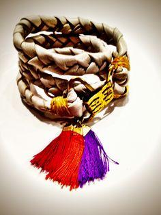 De Petra braided Leather wrap