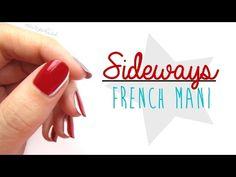 Sideways French Nail Art - YouTube