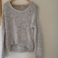 Comfy fuzzy sweater! Super comfortable and soft gray and white sweater! Never worn in perfect conditions Xhilaration Sweaters