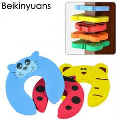 5pcs Door Stopper Animal Baby Security Card Protection Tool Baby Safety Gate Product Newborn Care Eva Door Locks Baby Anti-Clamp #Affiliate