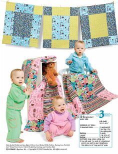 Super Sized Nine Patch. Easy and fast quilt to make for babies. Our quilt guild makes quilts for Arkansas Children's Hospital and these are perfect for that.