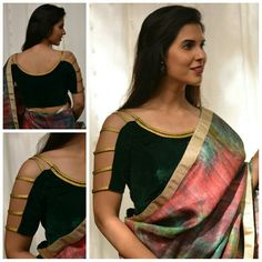 Want to get that stylish look in Saree. Take a look at these stunning and trending blouse designs photos for ultimate style. Blouse Back Neck Designs, Stylish Blouse Design, Fancy Blouse Designs, Designer Blouse Patterns, Sport, Classy Fashion, Fashion Vintage, 80s Fashion, Petite Fashion