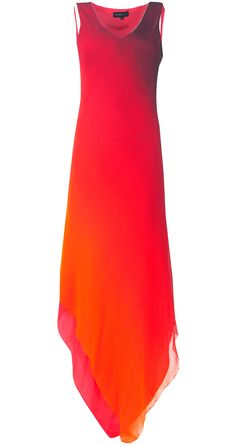 Ombre dyed chiffon dress by NACHIKET BARVE. Shop at http://www.perniaspopupshop.com/whats-new/nachiket-barve