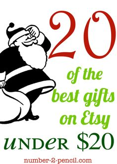 Twenty Christmas gift ideas for under twenty dollars, something for everyone of your list. So many cute ideas!