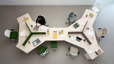 56 Unordinary Diy Open Space Office Design Ideas – Home Office Design Layout Open Space Office, Office Space Design, Modern Office Design, Office Furniture Design, Workspace Design, Office Workspace, Office Interior Design, Office Interiors, Office Decor