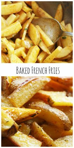 Baked French Fries ~ You can make a batch of these in no time for dinner!