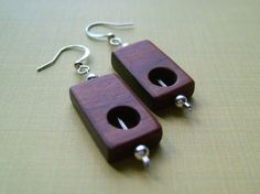 Dark dotted earrings by 3dots on Etsy, $20.00