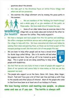 Newsletter 1, page 12 More about the lifestyle activities at the farm - and an open invitation to visit!
