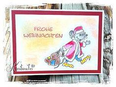 Hier kommt die Weihnachtsmaus....★ Motivstempel www.kreativzauber.de