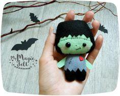 Lindos adornos Halloween SET de 2 adornos fieltro por MyMagicFelt