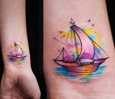 Little Ship tattoo by Versus Ink