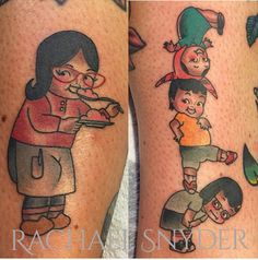 An interesting take on the family by Rachael Snyder. #inked #kewpie #tattoo #bobsburgers #tina #family