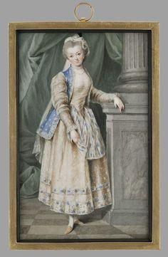 Portret ks.Izabelli z Flemingów Czartoryskiej (1746-1835) w stroju polskim