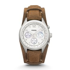 Orologio Flight con cronografo in pelle - Cuoio CH2795 | FOSSIL®