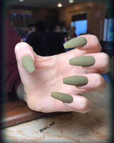 76 Likes, 0 Comments - 5th_Ave_Nail_Spa (@5th_ave_nailspa) on Instagram Long acrylic coffin shaped nails army green camo matte ideas nail polish shape
