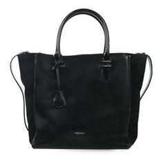 Bolso negro de mano #bolsodepiel #handbags #Bridas #Clenapal #FW14