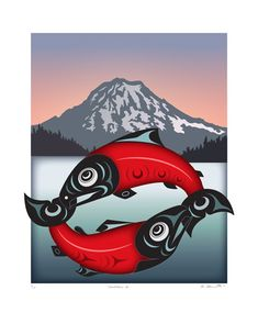 I quite simply fancy the different colors, outlines, and depth. This is an excellent tattoo design if you want a Tribal Wolf Tattoo, Tribal Art, Wolf Tattoos, Native Canadian, Native American Art, Orca Art, Haida Art, Inuit Art, Feather Painting