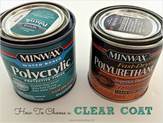 10 Paint Secrets: Use polycrylic instead of polyurethane as a furniture clear coat (won't yellow over time AND cleans up with water)