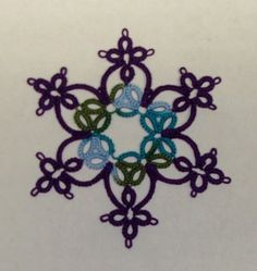 4 Ring Snowflake - TATTING by Wendy's Crafty Hands.