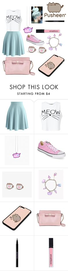 """""""Pastel Pusheen"""" by maddie-5sos-xx ❤ liked on Polyvore featuring Chicwish, Miss Selfridge, Pusheen, Converse, Kate Spade, Bellissima, Urban Decay and Smashbox"""
