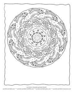 water mandala coloring pages | Coloring Page World - Rainbow Trout | Free Coloring Pages ...