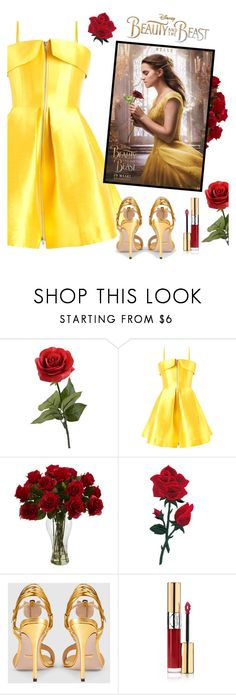 """Beauty And The Beast"" by melaniemeran ❤ liked on Polyvore featuring Alex Perry, Disney, Gucci, Yves Saint Laurent, BeautyandtheBeast and contestentry"