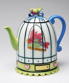 Look what I found on #zulily! Birdcage Teapot #zulilyfinds
