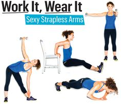 Do these moves to get strong, sexy, svelte arms. Then, start shopping for that perfect holiday strapless dress. Re-pin now, check later.