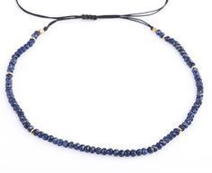 Lapis Lazuli Choker or Necklace Gemstone Choker Adjustable