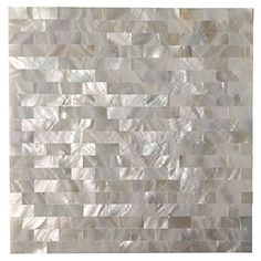 """Art3d Peel and Stick Mother of Pearl Shell Mosaic Tile for Kitchen Backsplashes, 12"""" x 12"""" White Brick"""