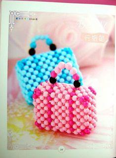 Tiny Beaded Purses with diagrams. Bead Crochet Patterns, Beaded Jewelry Patterns, Beading Patterns, Purse Patterns, Seed Bead Art, Seed Bead Jewelry, Beaded Clutch, Beaded Purses, Beading Projects