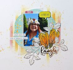 I start my Heidi Swapp`s Storyline album and I´m so excited this style. I used only some area and left lot of white. Grateful Heart, Thankful, Heidi Swapp, May, Mood Boards, Challenges, Scrapbooking, Sketch, Style