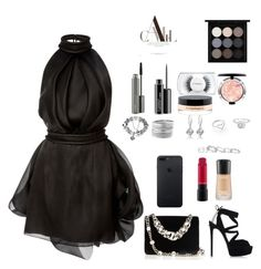 """Little black dress"" by han-nastya on Polyvore featuring мода, Brandon Maxwell, Casadei, Miu Miu, Avenue, Jordan Askill, Kendra Scott и MAC Cosmetics"
