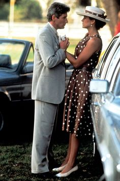Pretty Woman....god I loved that dress I LOVED THIS SO MUCH I BOUGHT A BROWN P. DOT DRESS AND HAT.