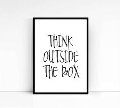 PRINTABLEThink Outside The BoxMotivational Office by mixarthouse
