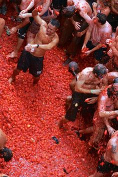 La Tomatina festival in Valencia, Spain. The world's biggest food fight. Bucket list.