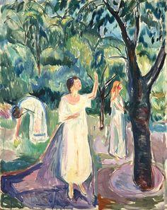 Three Women in the Garden 1926 / Oil on canvas / 147 x 120 cm Munch