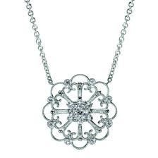 Vintage Open Filigree Diamond Pendant tanz in middle?