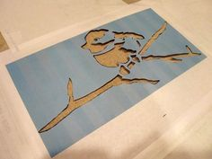 Stenciling on fabric