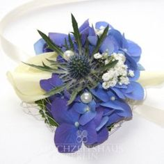 Blütenarmband Blue