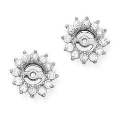 ff4002bb8 14K White Gold 1 ct JK Diamond Earring Jackets FindingKing. $1694.99 Diamond  Earring Jackets,