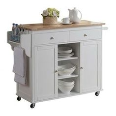 I have this, thanks to my mom. I love it. Great for a kitchen with little counter space. Mine also has a granite cutting board on the top.